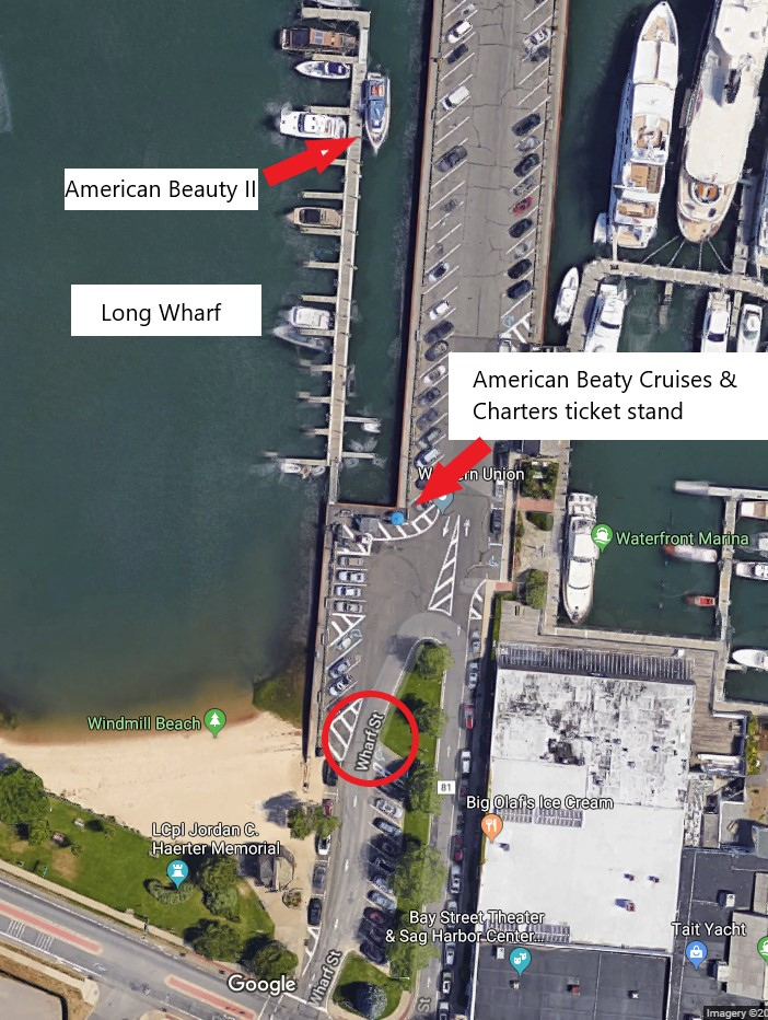 Satellite view of American Beauty Cruises & Charters on Long Wharf