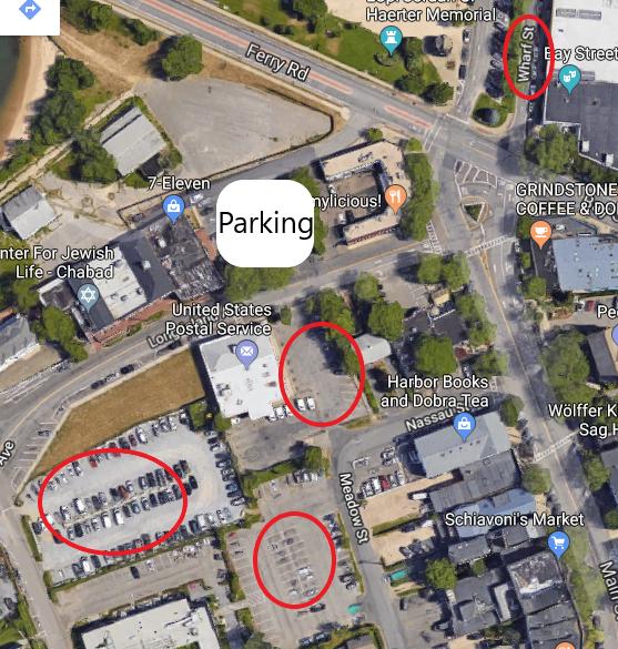 Parking spots near Long Wharf Sag Harbor