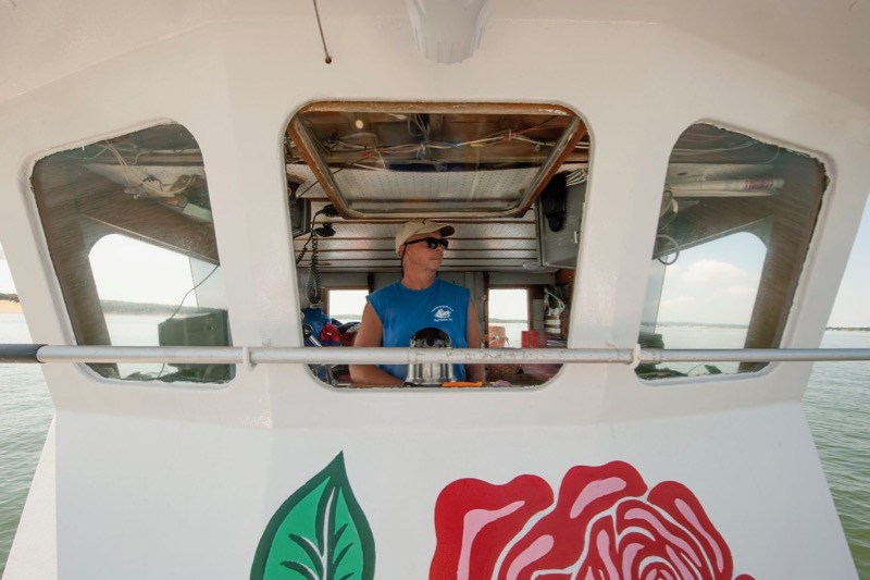 Captain Don Heckman aboard American Beauty in the Hamptons
