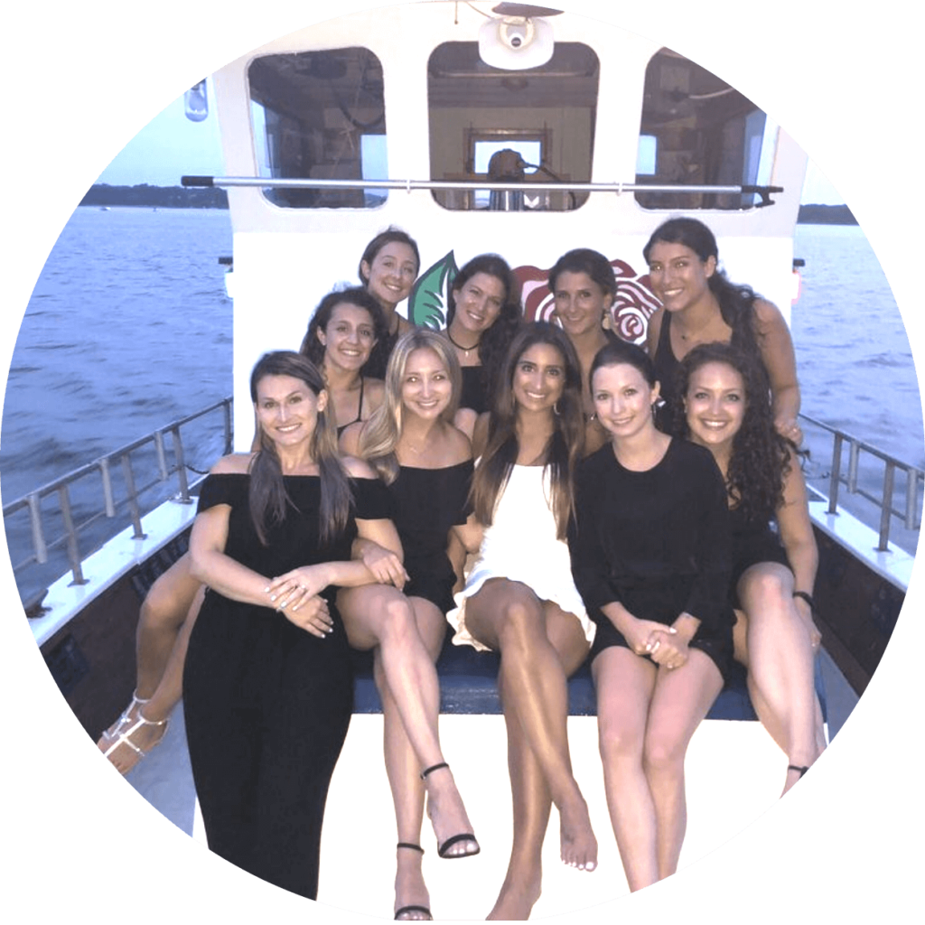 Hamptons bachelorette party boat cruise